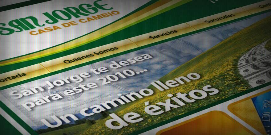 Diseño de página web de San Jorge