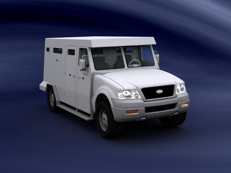 diseño para camión blindado