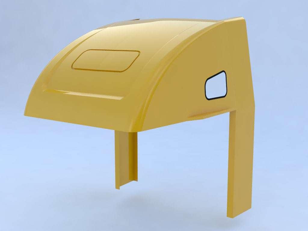 Diseño de modelo para deflector de tractocamión