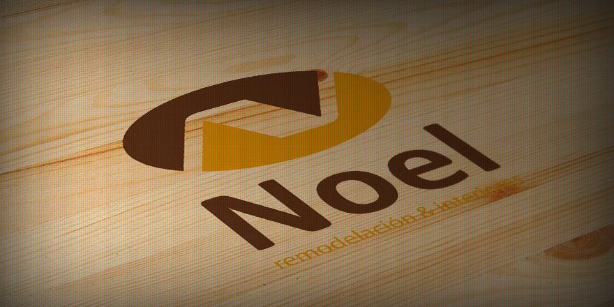 Diseño de logotipo para remodelación de interiores NOEL