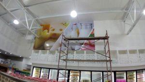 Instalación de viniles en paredes