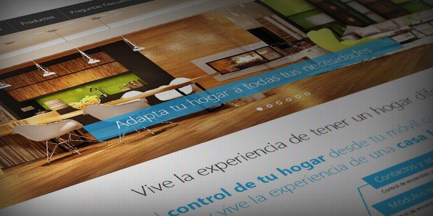 Diseño de página web para automatización comercial y residencial GOME