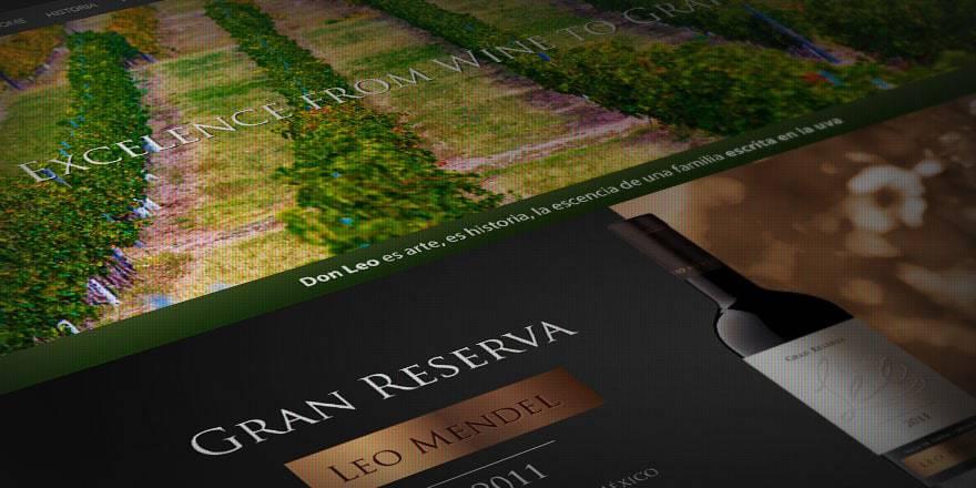 Diseño de página web Vinos Don Leo