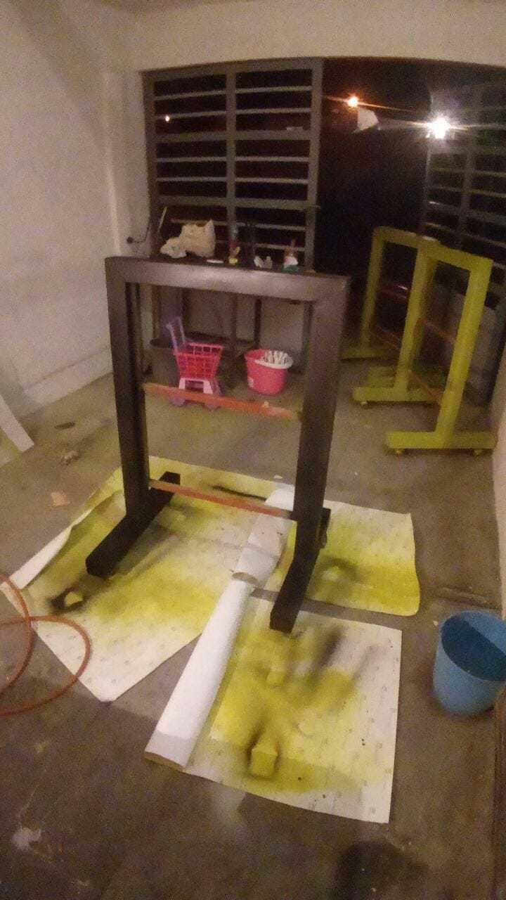 Preparación para pintado de display