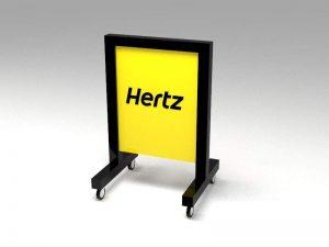 Representacion tridimensional de display para estacionamiento tipo dos