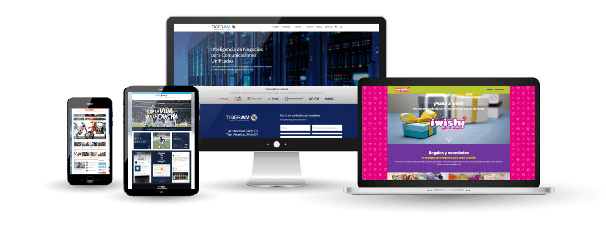 Diseño de páginas web para todo tipo de dispositivos