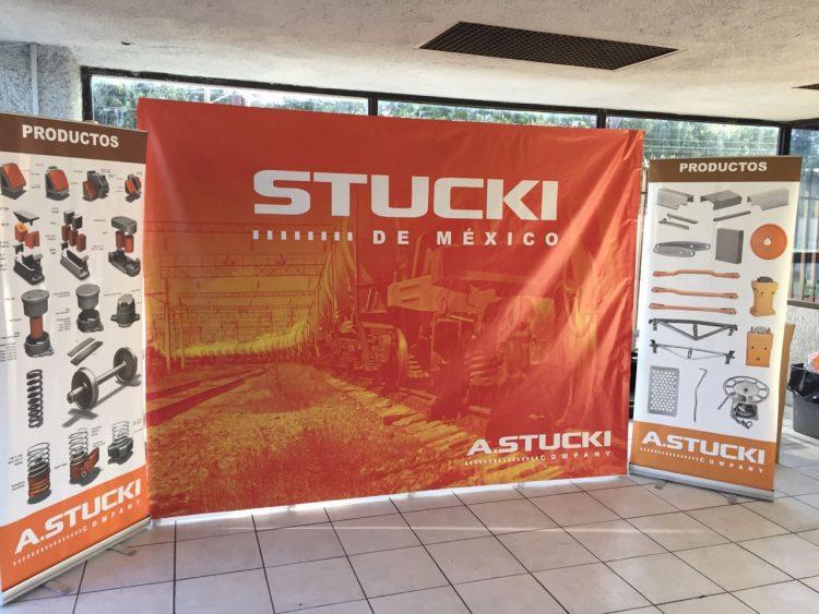 Display publicitario STUCKI para expo industrial 1