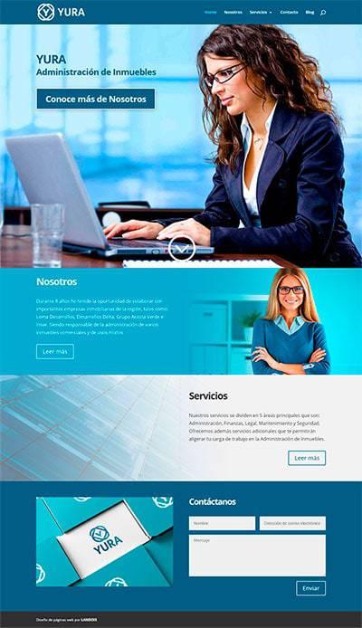 Diseño de página web para administración de inmuebles YURA 1