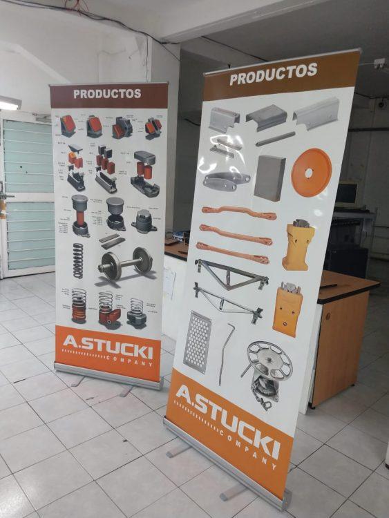 Display publicitario STUCKI para expo industrial 5