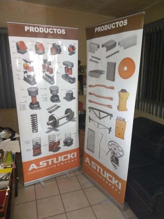 Display publicitario STUCKI para expo industrial 6