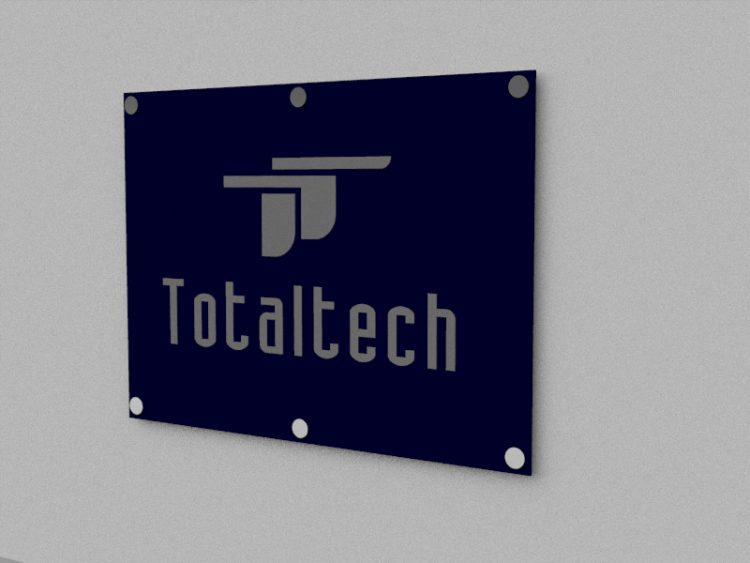 Letrero con Logo Realzado 3D para pared Total Tech 2