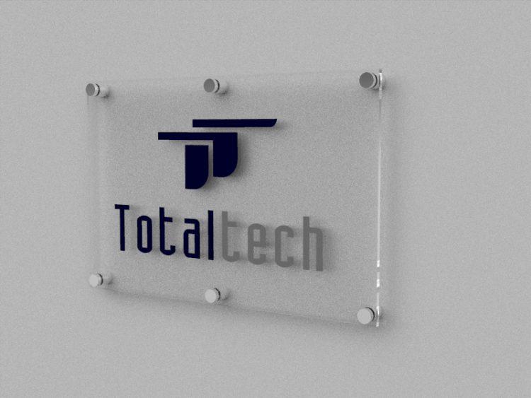 Letrero con Logo Realzado 3D para pared Total Tech 1