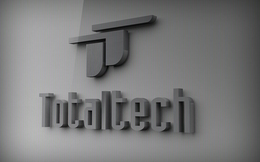 Letrero con Logo realizado (3D) para pared Total Tech