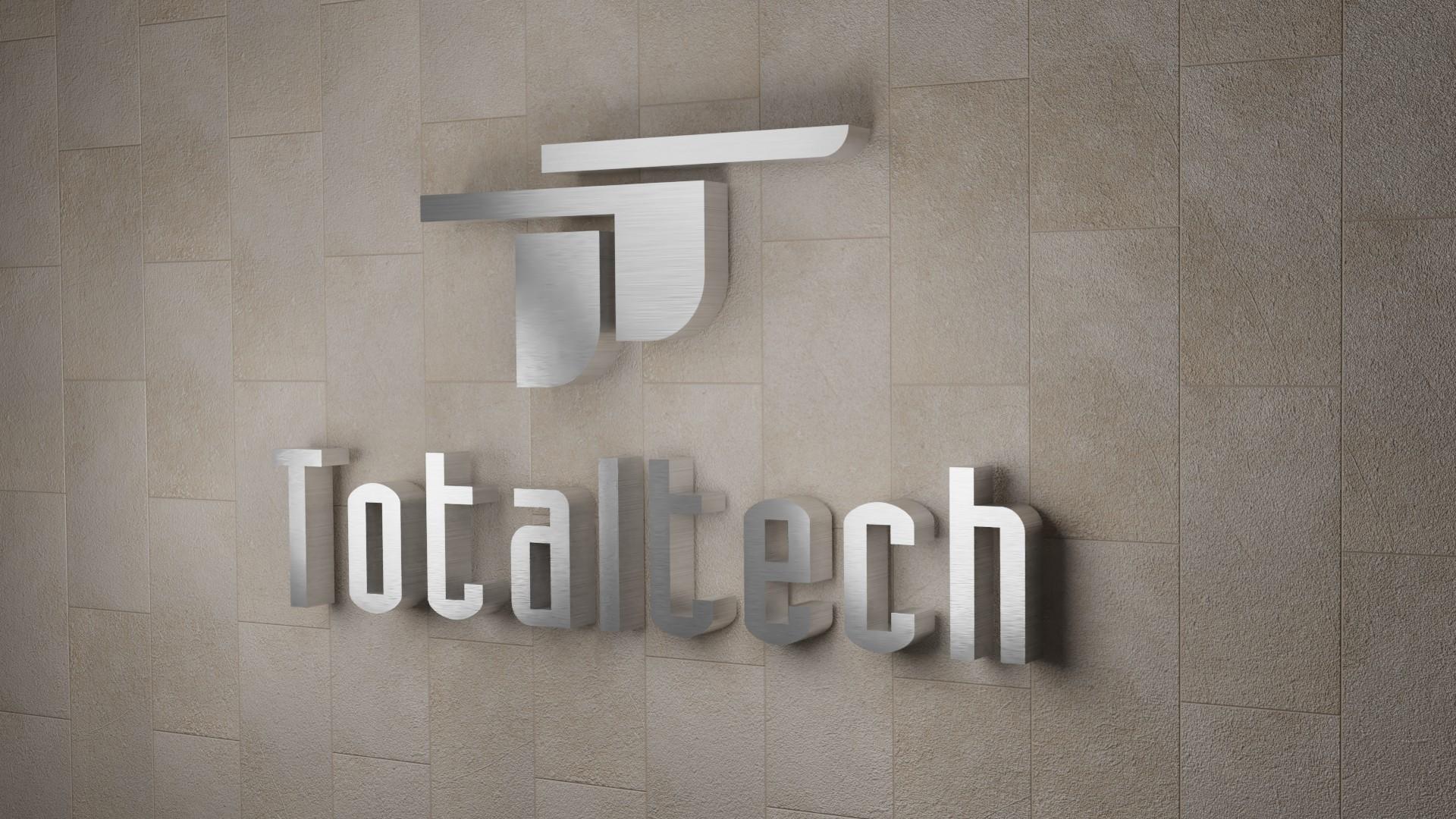 Letrero con Logo Realzado (3D) para pared Totaltech