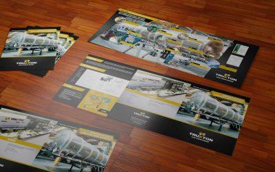 Diseño de brochure tipo tríptico para fabricación de auto tanques Truxton