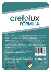 Diseño de etiqueta adhesiva para recubrimiento líquido para concreto CRETOLUX 3