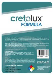 Diseño de etiqueta adhesiva para recubrimiento líquido para concreto CRETOLUX 4