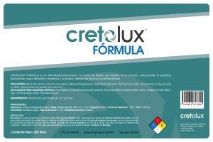 Diseño de etiqueta adhesiva para recubrimiento líquido para concreto CRETOLUX 5