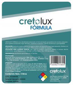 Diseño de etiqueta adhesiva para recubrimiento líquido para concreto CRETOLUX 2