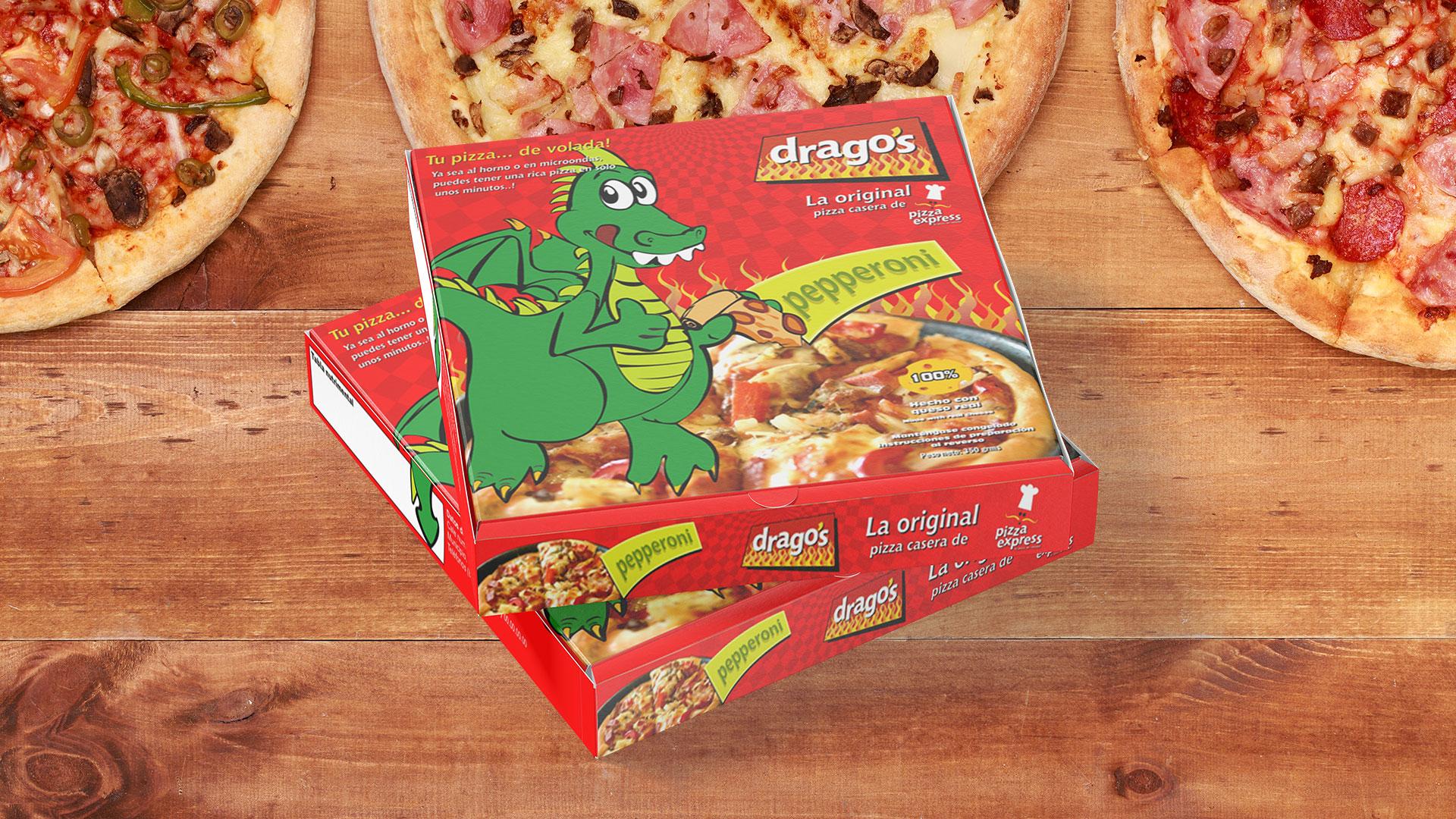 Diseño de empaque tipo caja para pizza