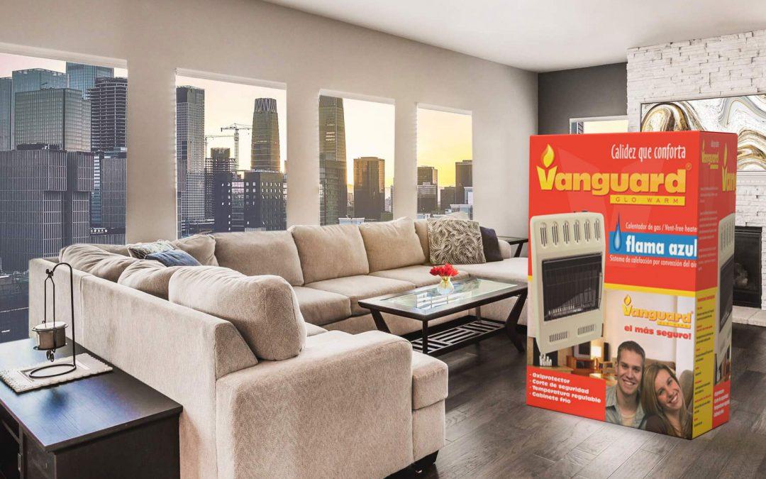 Diseño de empaque tipo caja para calefactor Vanguard