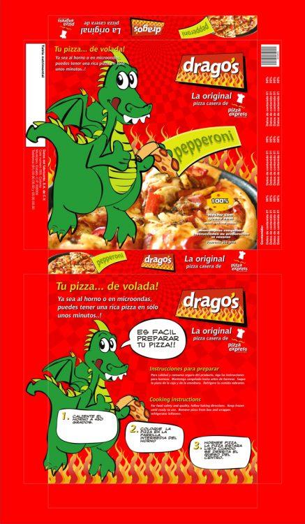 Empaque caja pizza Dragos