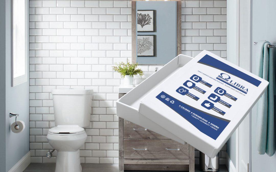 Diseño de empaque en caja de cartón para tapas de sanitario Libra
