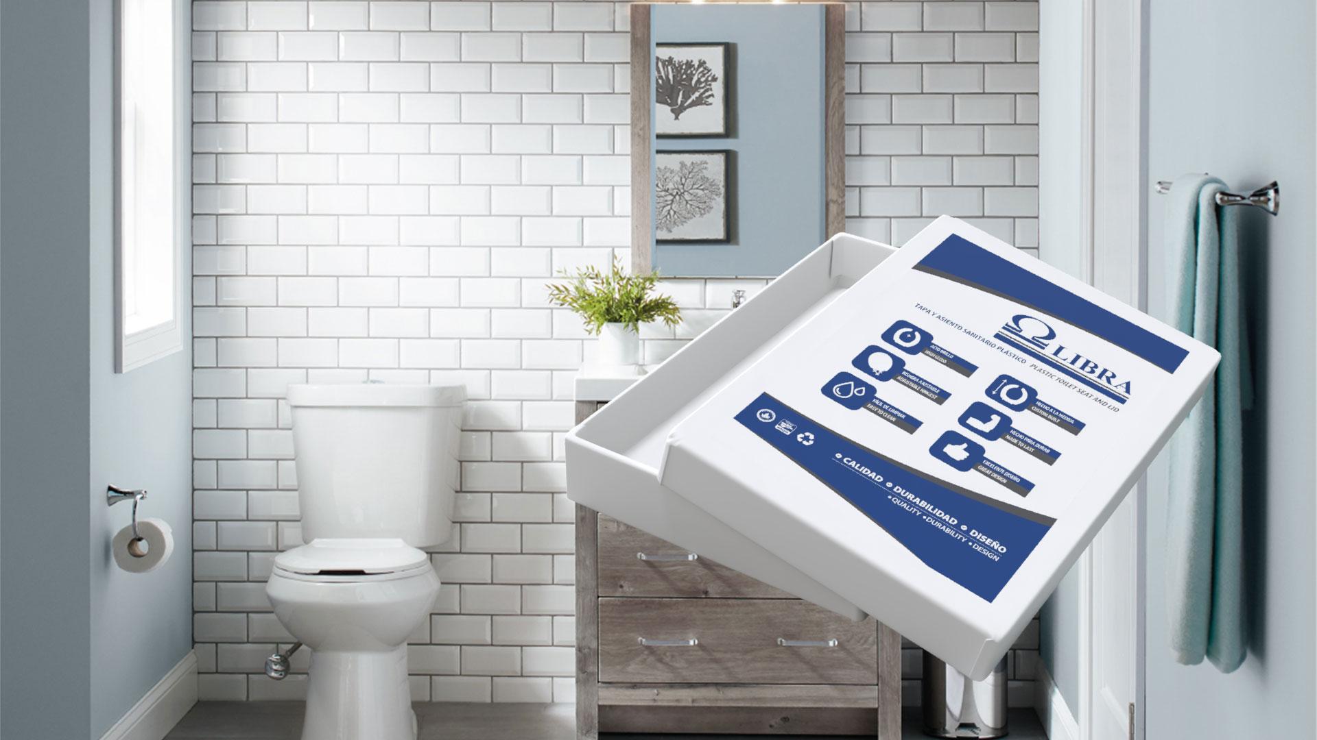 Diseño de empaque en caja de cartón para tapas de sanitario