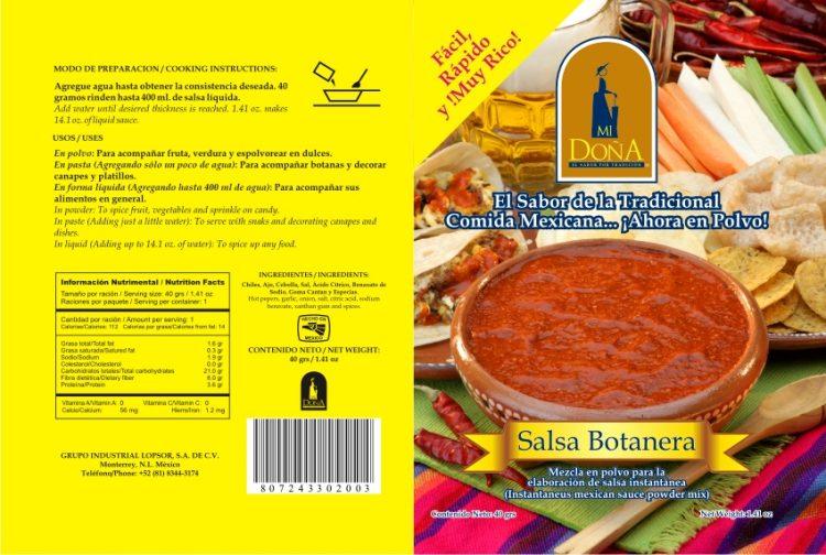 Empaque para salsa Mi Doña