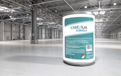 Diseño de etiqueta adhesiva para recubrimiento líquido para concreto CRETOLUX