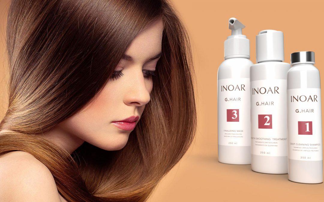 Diseño de etiqueta adhesiva para tratamiento del cabello INOAR