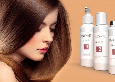 Diseño de etiqueta adhesiva para tratamiento del cabello