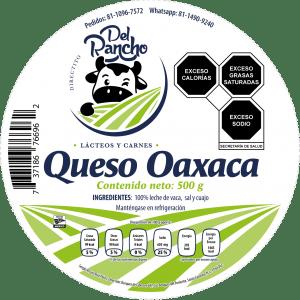 Diseño de etiqueta adhesiva Queso Oaxaca