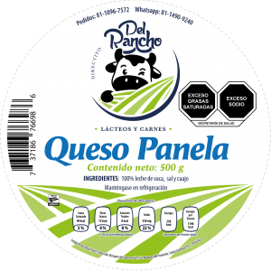 Diseño de etiqueta adhesiva Queso Panela