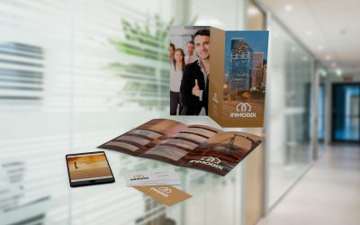 Diseño de identidad para servicios legales inmobiliarios INMOBIX