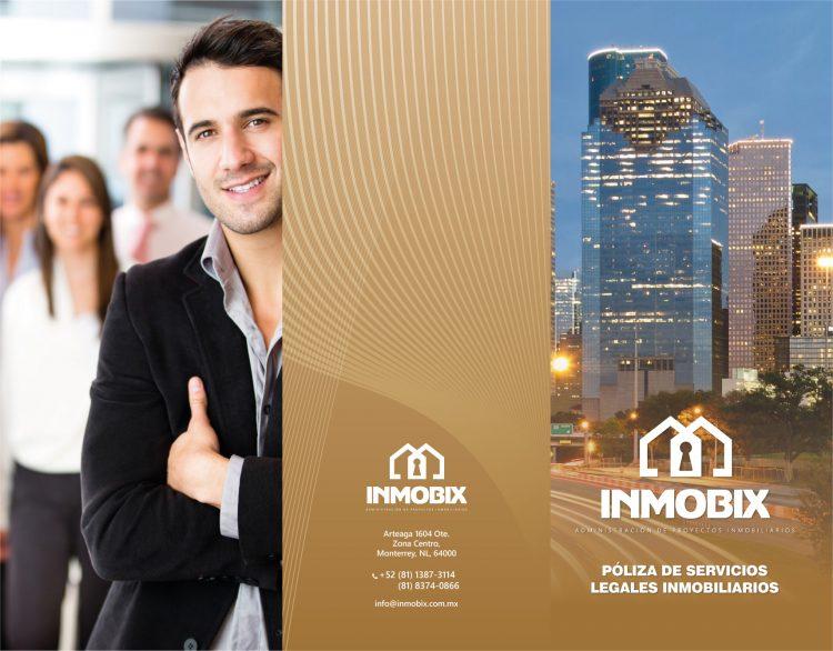 Diseño de identidad para servicios legales inmobiliarios INMOBIX 1
