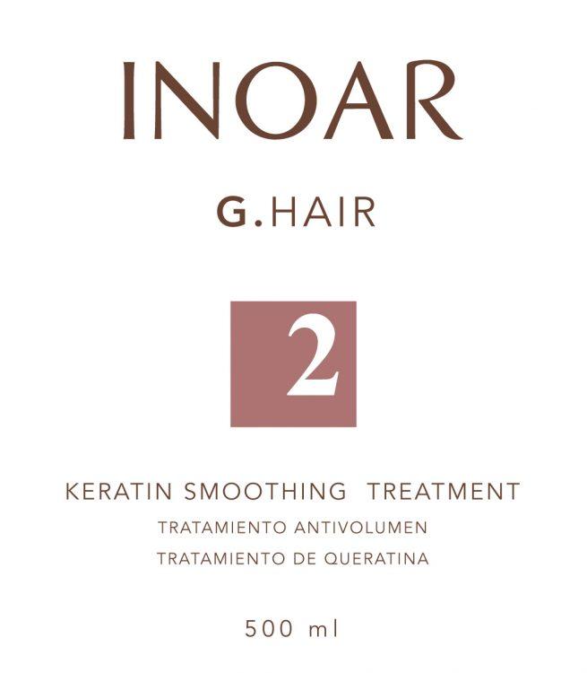 Diseño de etiqueta adhesiva para tratamiento del cabello INOAR 2