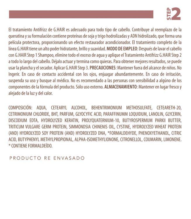 Diseño de etiqueta adhesiva para tratamiento del cabello INOAR 3