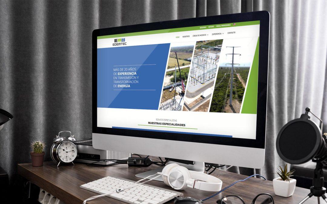 Diseño de página web para instalaciones eléctricas Edemtec