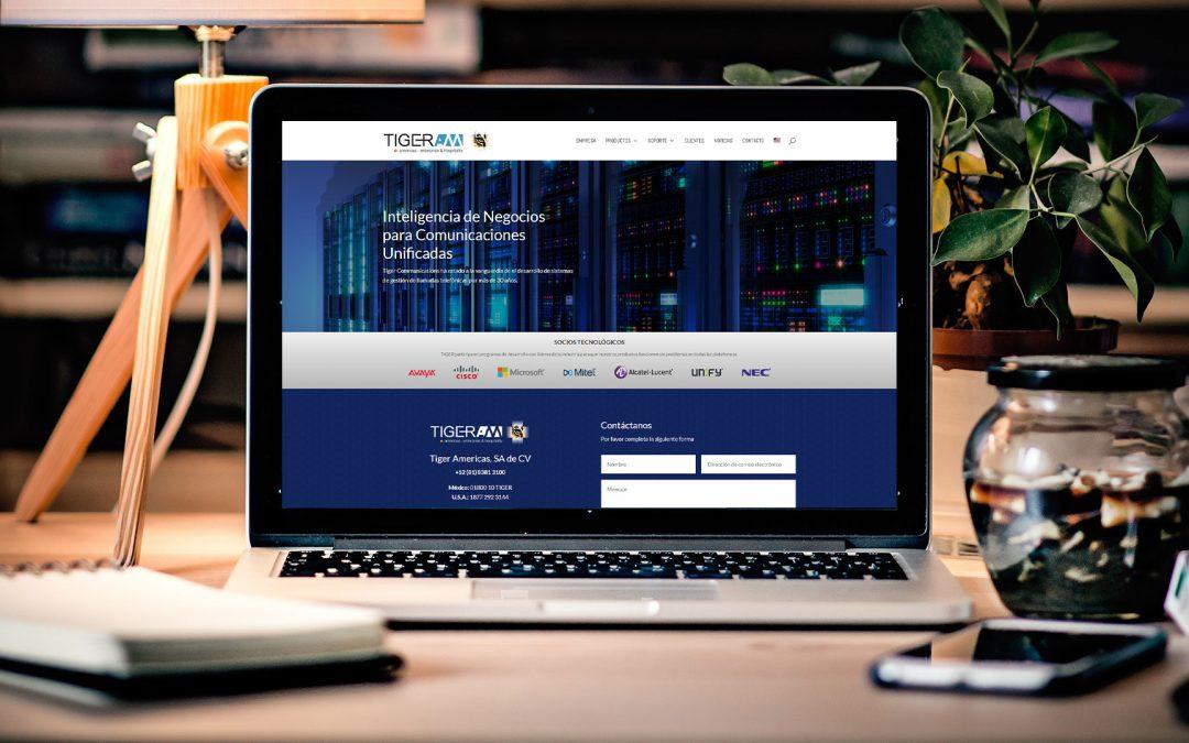 Diseño de página web para telecomunicaciones Tiger AM