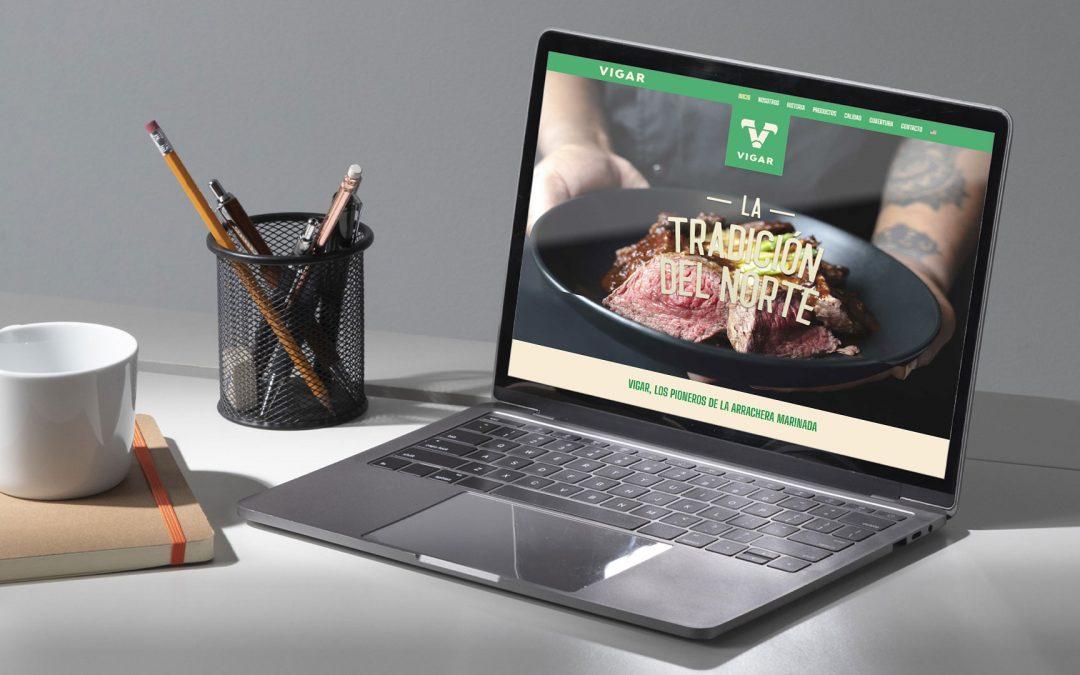 Diseño de página web para empacadora de carnes Vigar