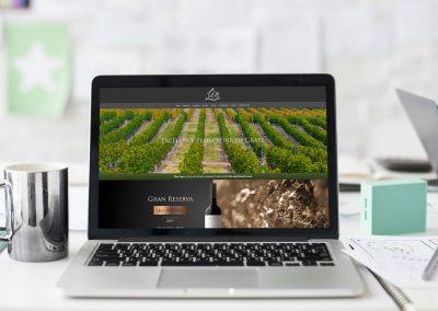 Diseño de página web para viñedos