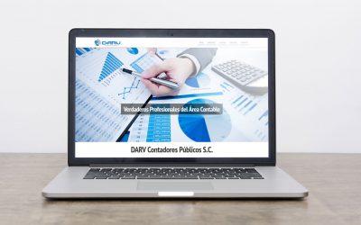 Diseño de página web para despacho de contabilidad Darv Contadores