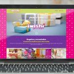página web para tienda de regalos Whishop