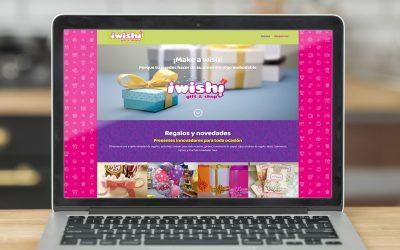 Diseño de página web para tienda de regalos Whisshop