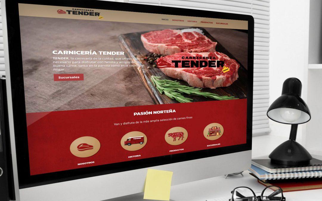 Diseño de página web para carnicerías TENDER