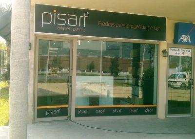 Caja de luz y rótulos Pisart