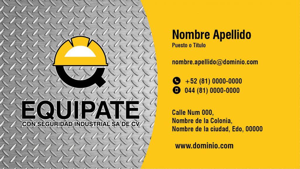 Diseño de tarjeta de presentación Equípate 1